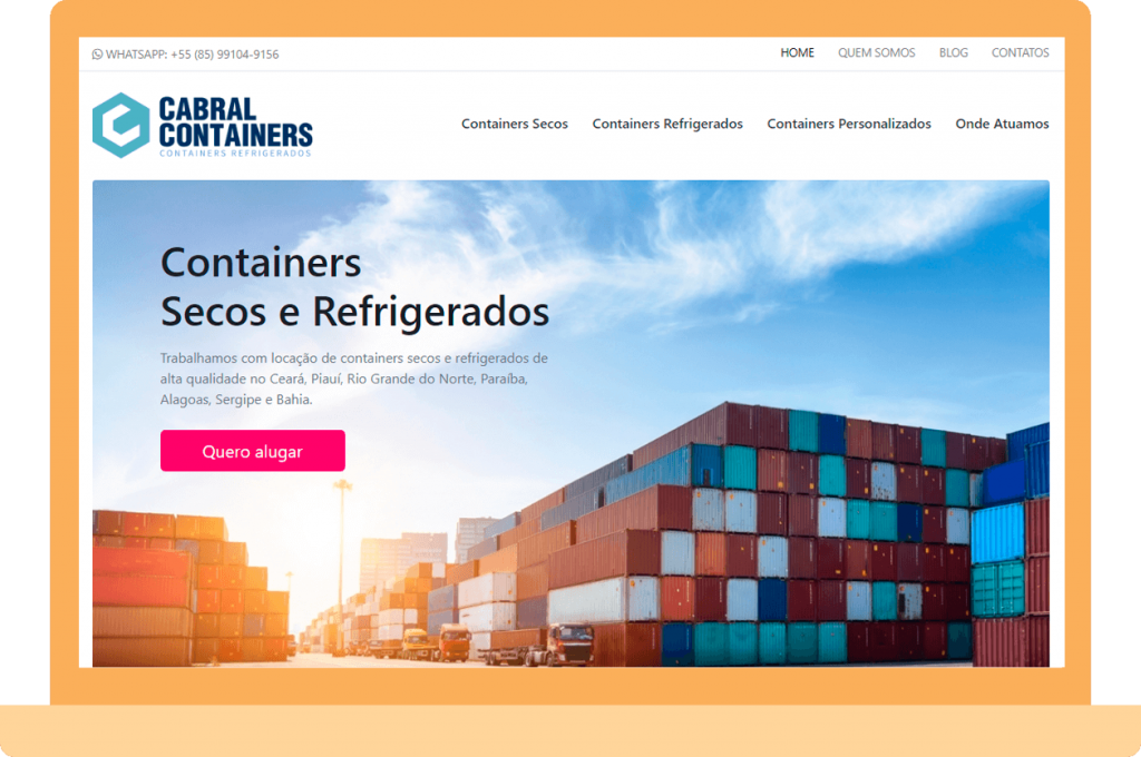 Cabral Containers Website