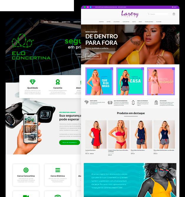 Websites com criatividade, beleza e tecnologia