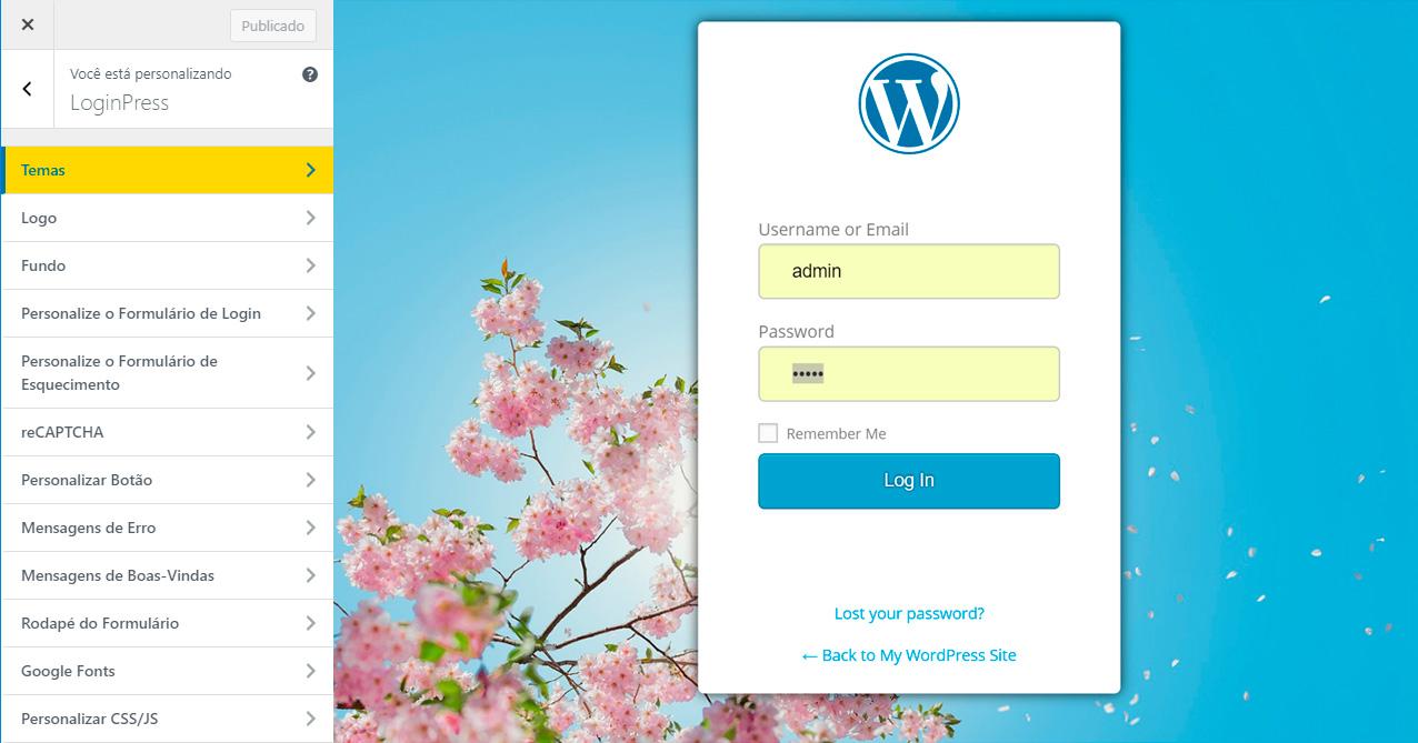 Como personalizar a página de login do WordPress sem código
